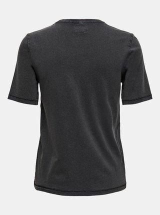 Černé tričko s potiskem ONLY Justice