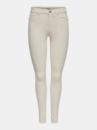 Krémové skinny fit džíny ONLY Wauw