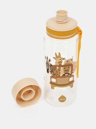 Žlutá plastová láhev s potiskem EQUA 400 ml