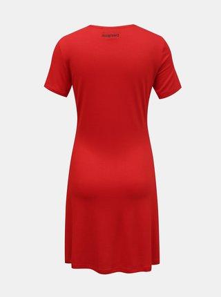 Desigual červené šaty Vest Mickey