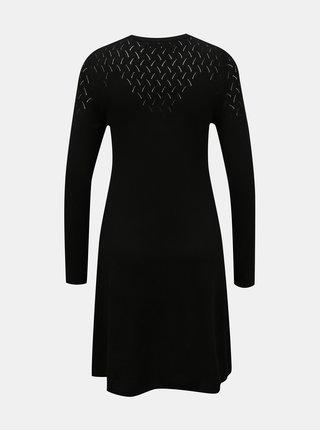 Černé svetrové šaty ONLY Molli