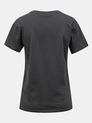 Tmavě šedé tričko s potiskem ONLY Happy