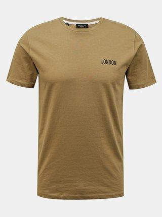 Světle hnědé tričko Selected Homme Lenox