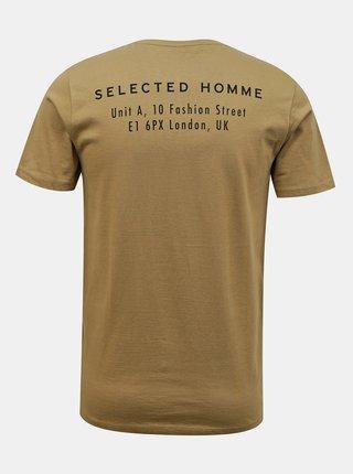 Svetlohnedé tričko Selected Homme Lenox