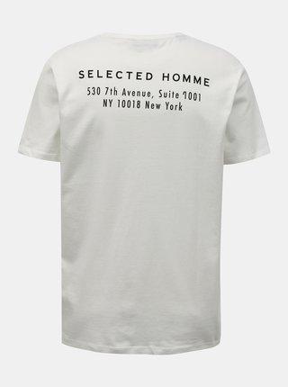 Bílé tričko Selected Homme Lenox