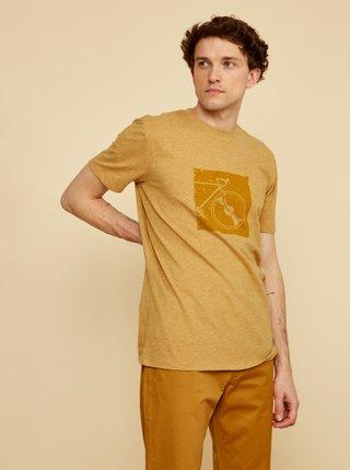 Světle hnědé  pánské tričko s potiskem ZOOT Philip