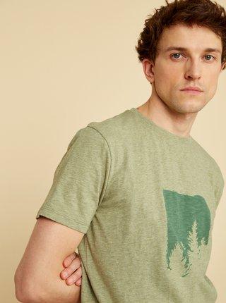 Zelené pánské tričko s potiskem ZOOT Philip