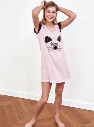 Růžová noční košile Trendyol