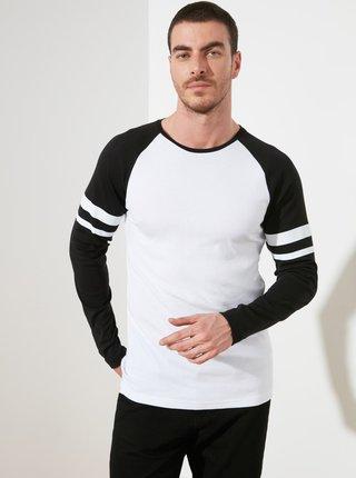 Černo-bílé pánské tričko Trendyol