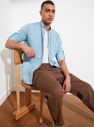 Svetlomodrá pánska košeľa Trendyol