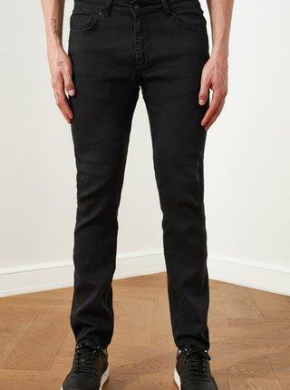 Černé pánské slim fit džíny Trendyol