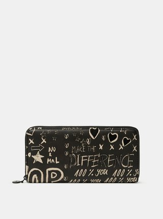 Desigual čierne peňaženka Mone Hansmade Fiona