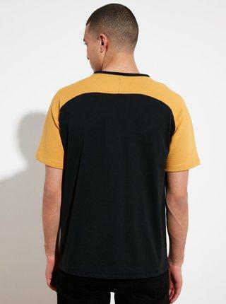 Čierne pánske tričko Trendyol