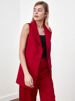 Červená dámská vesta Trendyol