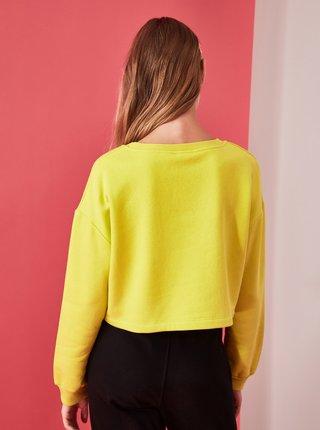 Žltá dámska mikina Trendyol
