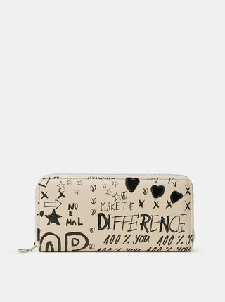 Desigual béžové peňaženka Mone Hansmade Fiona
