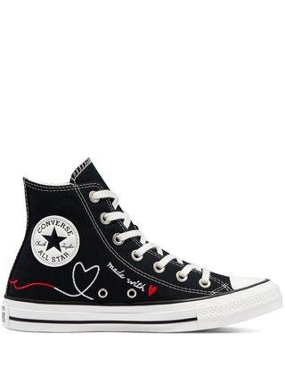 Converse černé kotníkové tenisky Valentine's Day Chuck Taylor All Star