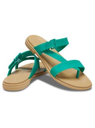 Crocs zelené žabky Tulum Toe Post Sandal W Pistachio