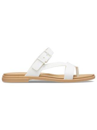 Crocs bílé žabky Tulum Toe Post Sandal W Oyster