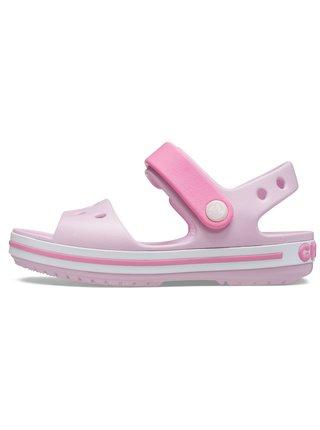 Crocs ružové dievčenské sandále Crocband Sandal Kids Balerina Pink