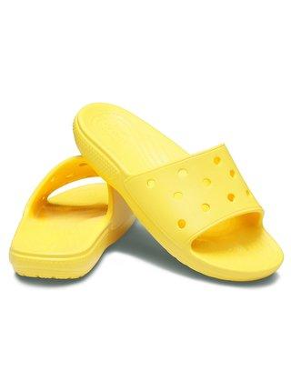 Crocs žluté pantofle Classic Crocs Slide Lemon