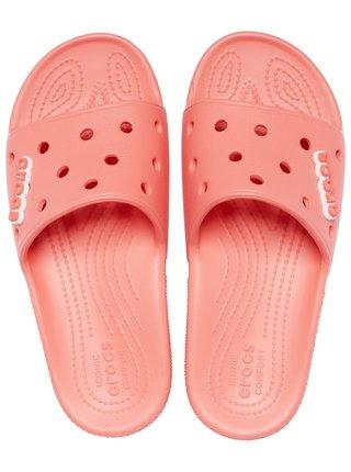 Crocs lososové pantofle Classic Crocs Slide Fresco