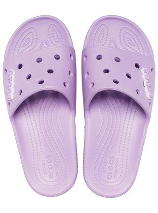 Crocs fialové pantofle Classic Crocs Slide Orchid