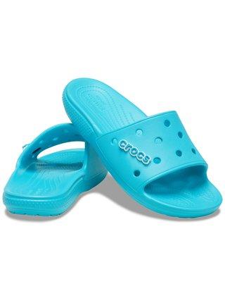 Crocs modré šľapky Classic Crocs Slide Digital Aqua