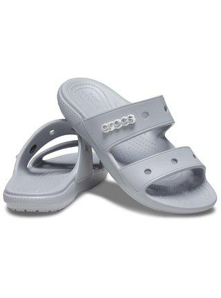 Crocs šedé pantofle Classic Crocs Sandal Light Grey