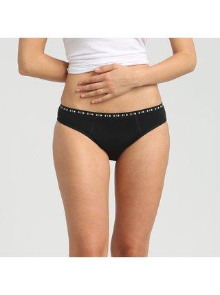 Menstruační kalhotky DIM MENSTRUAL NIGHT SLIP - Noční menstruační kalhotky - černá
