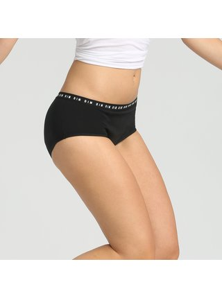 Menstruační kalhotky DIM MENSTRUAL BOXER - Menstruační kalhotky s nohavičkou - černá