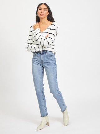 Modro-biely pruhovaný sveter VILA Rush