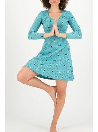 Blutsgeschwister zelené šaty Honest Bee Yoga Flowgirls