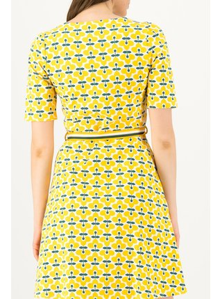 Blutsgeschwister žlté šaty So Frei Real Retro