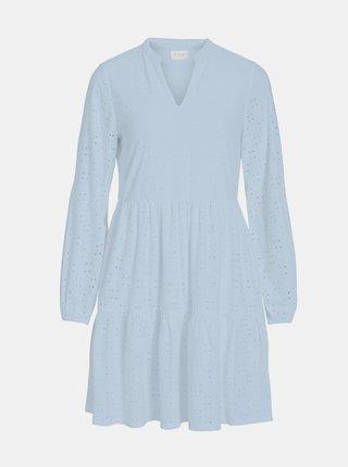 Světle modré šaty s madeirou VILA Kawa
