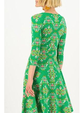 Blutsgeschwister zelené áčkové šaty Carnival Carousel