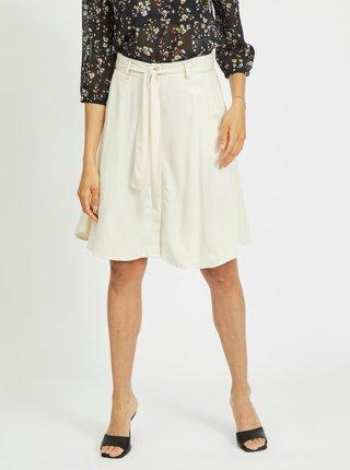 Krémová sukňa so zaväzovaním VILA Fanza