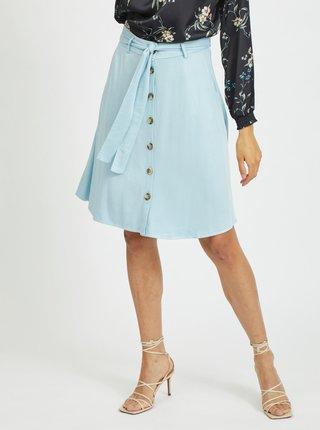 Světle modrá sukně se zavazováním VILA Fanza