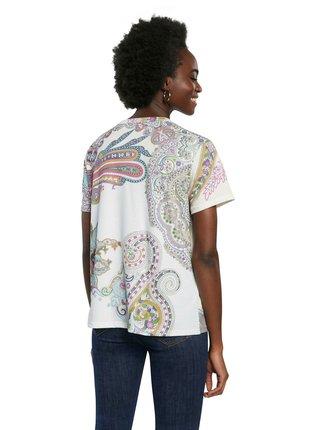 Vzorované tričko Desigual TS Popasley