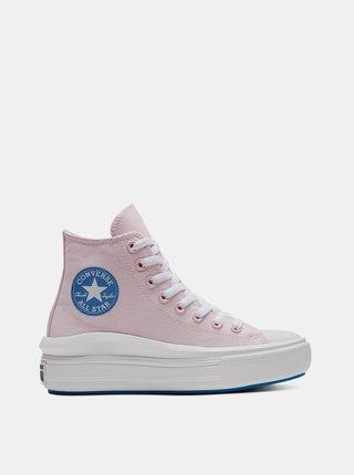 Ružové dámske členkové tenisky na platforme Converse