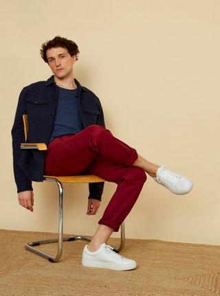 Vínové pánské slim fit kalhoty ZOOT Emanuel