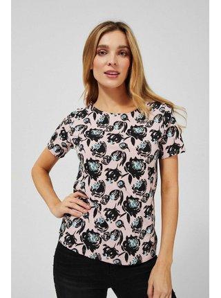 Růžové vzorované tričko Moodo
