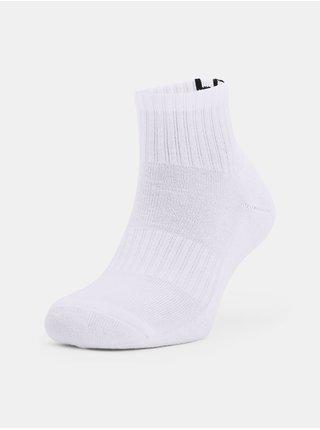 Ponožky Under Armour Core QTR 3PK - bílá