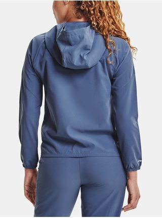 Bunda Under Armour Woven Hooded Jacket - modrá