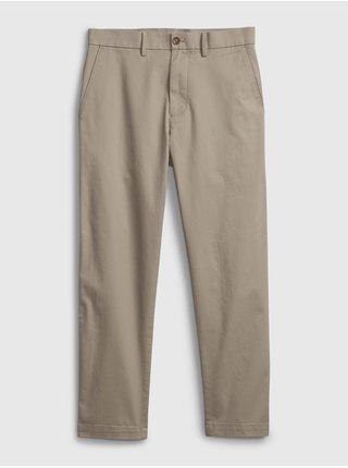 Béžové pánské kalhoty modern crop