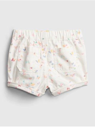 Detské kraťasy butterfly shorts Biela