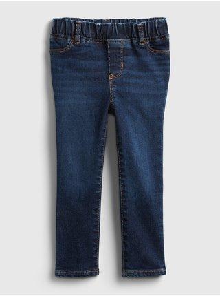 Modré holčičí dětské džíny jegging - dk