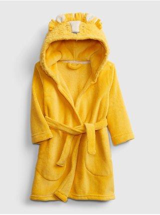 Žlutý dětský župan tu lion plush Zlatá