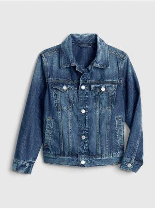 Modrá klučičí dětská džínová bunda denim icon