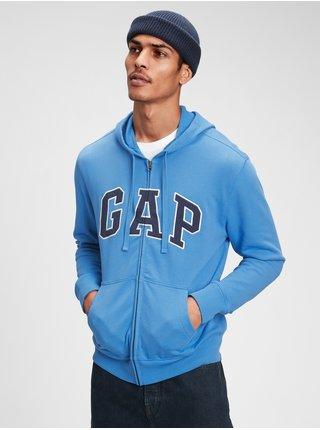 Mikina GAP Logo arch hoodie Modrá